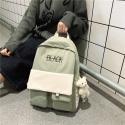 Balo thời trang nắp hai túi nam nữ đi học đi chơi H-97 (Không kèm móc khóa)